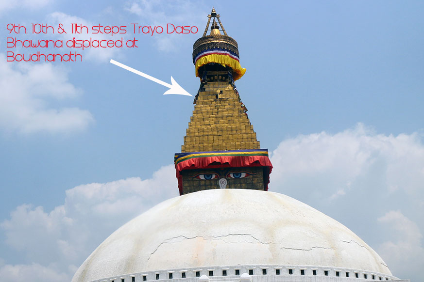 Boudhanath stands tall and intact after the quake