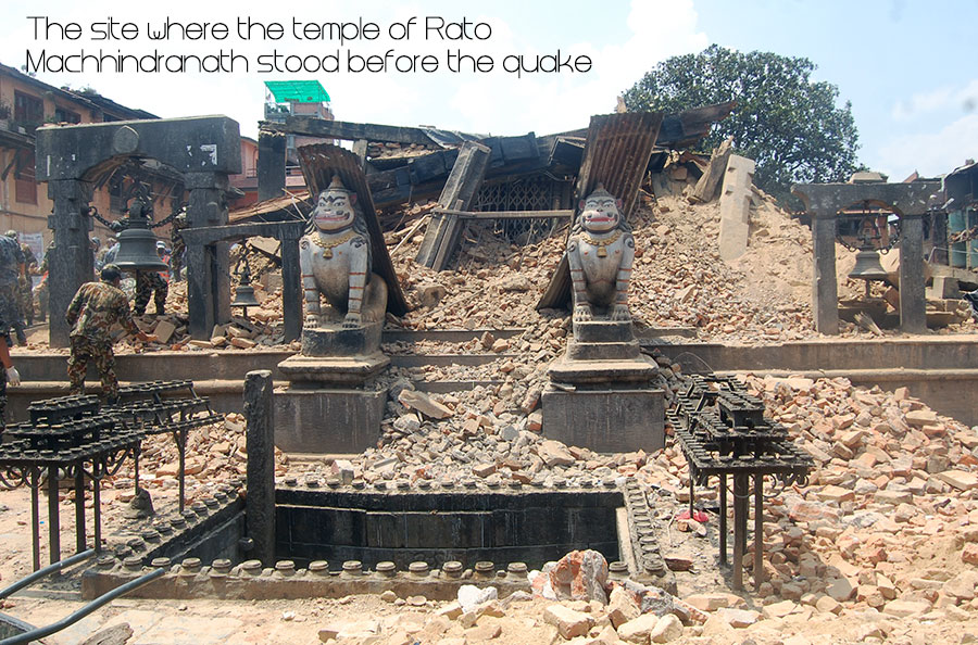 Rato Machhindra Nath Temple at Bungmati collaspes