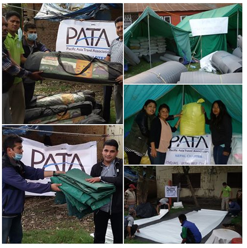 earthquake help center pata