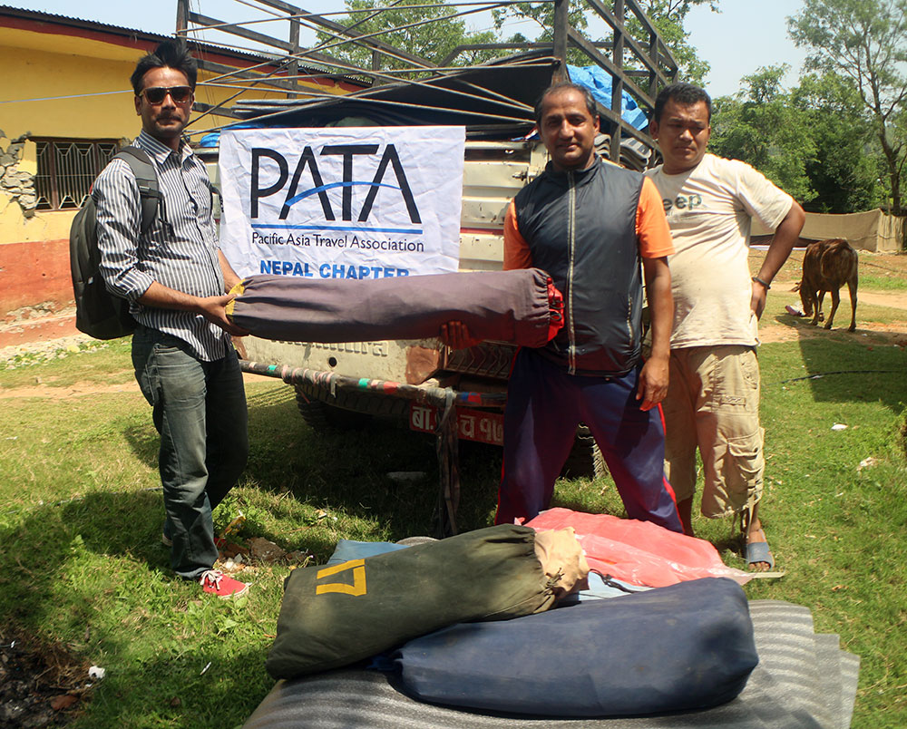 PATA Nepal Chapter helps Earthquake Victims
