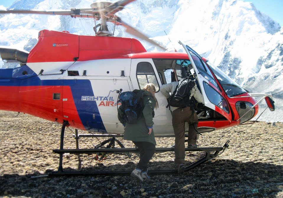 unique way of traveling in Nepal, Heli tour in Nepal